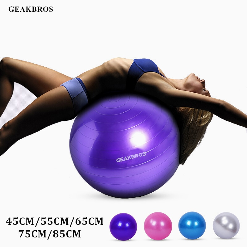 Exercise Yoga Ball Chair Fitness Gym Pilates Balance Stability Massage Ball Pump